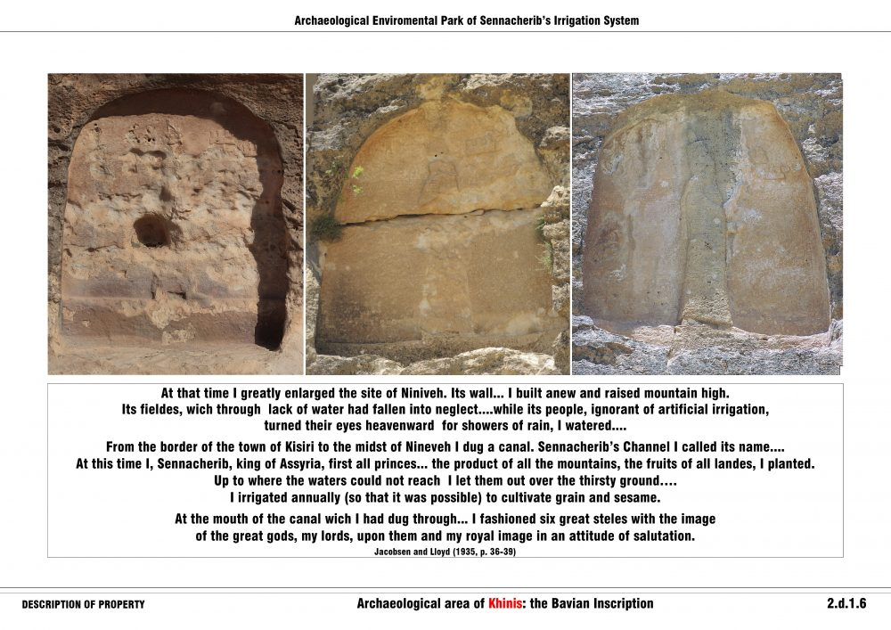 Archaeological area of Khinis: the Bavian Inscription