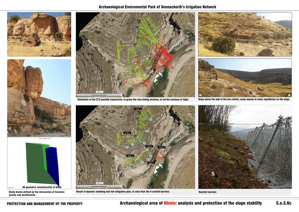 5.e.Archaeological area of Khinis: analysis and protection of the slope stability